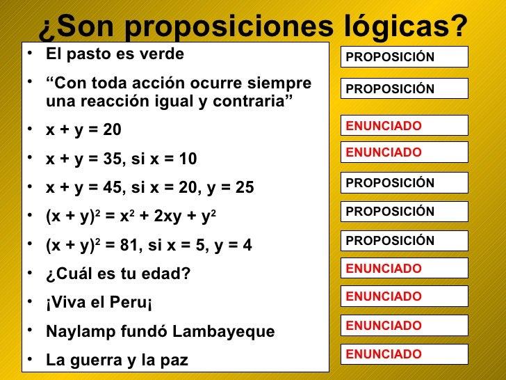 Proposiciones logicas Slide 3