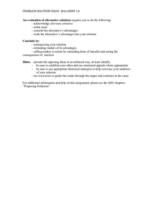 Ideas For Problem Solution Essay  Barcafontanacountryinncom Ideas For Problem Solution Essay I Can Never Be Bothered To Do My Homework  Writing And Editing