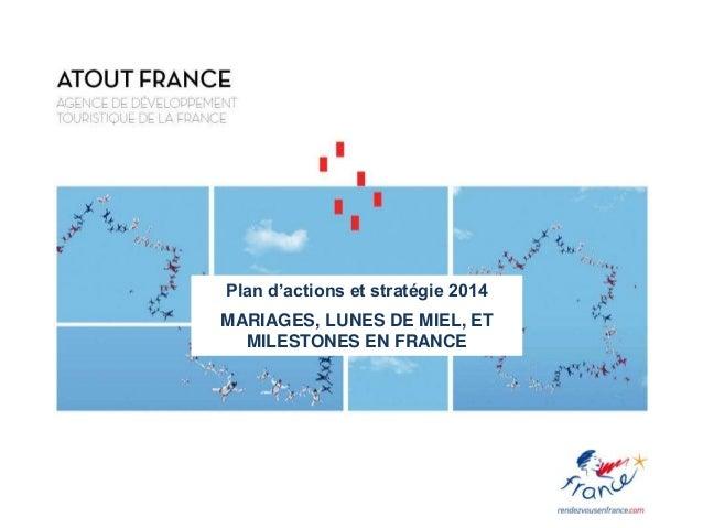 Plan d'actions et stratégie 2014 MARIAGES, LUNES DE MIEL, ET MILESTONES EN FRANCE