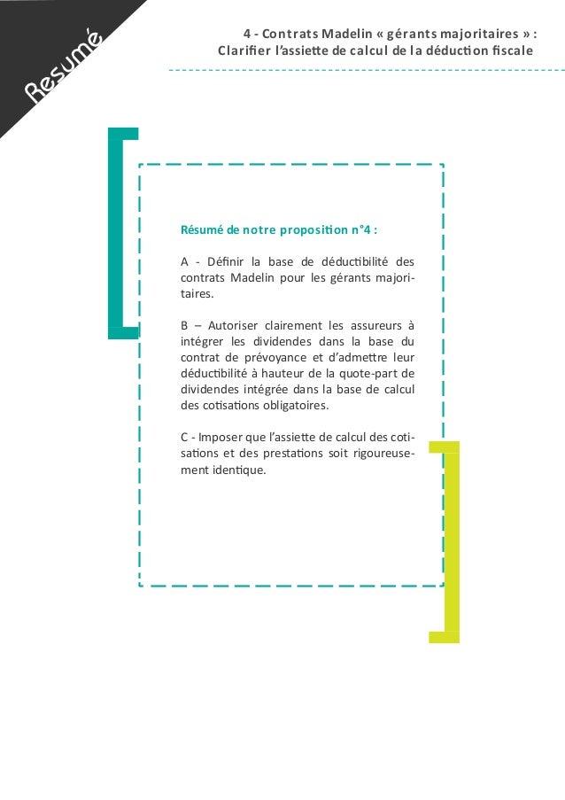 4  -‐  Contrats  Madelin  «  g érants  majoritaires  »  :   Clarifier  l 'assieAe  de  c alcul  ...
