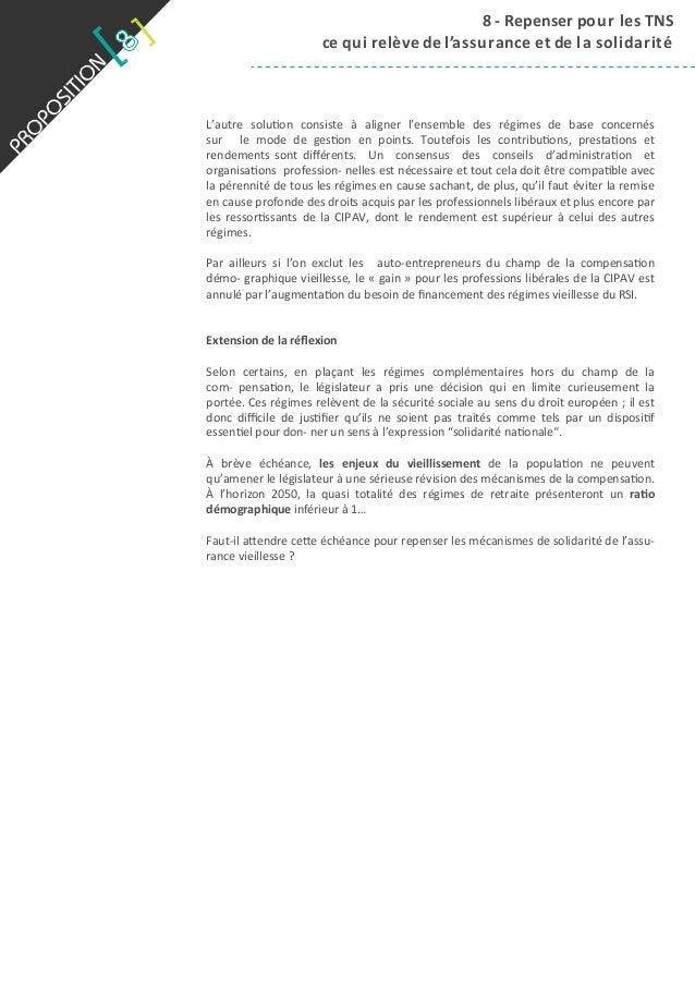 8  -‐  Repenser  pour  les  TNS   ce  q ui  r elève  de  l 'assurance  et  de  l a  solidarit...