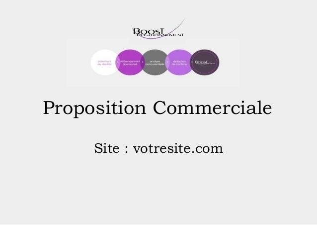 Proposition Commerciale Site : votresite.com