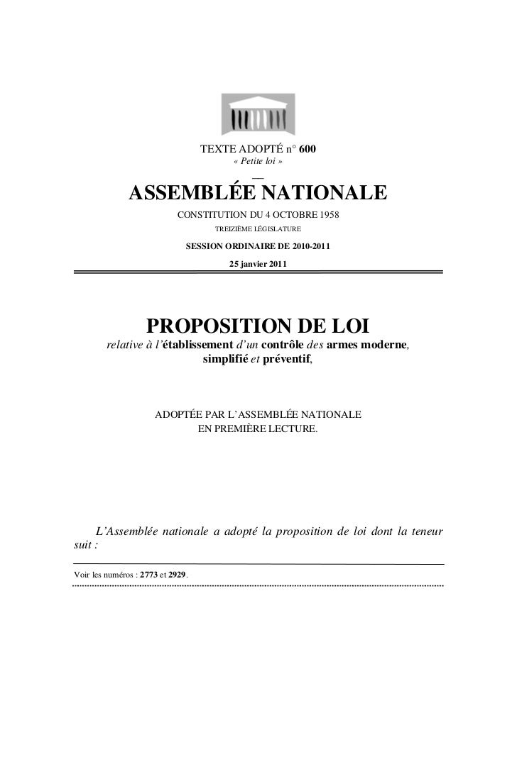 TEXTE ADOPTÉ n° 600                                         « Petite loi »                                              __...