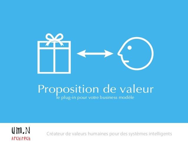 Proposition de valeur  le plug-in pour votre business modèle  Créateur de valeurs humaines pour des systèmes intelligents