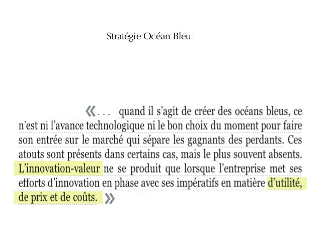 Stratégie Océan Bleu  . . .