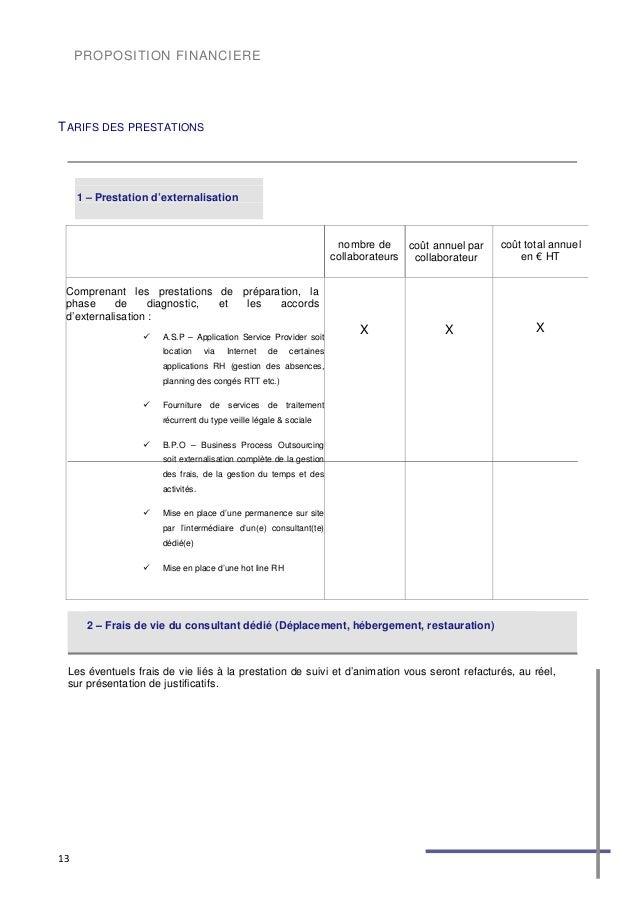 proposition de prestation de service