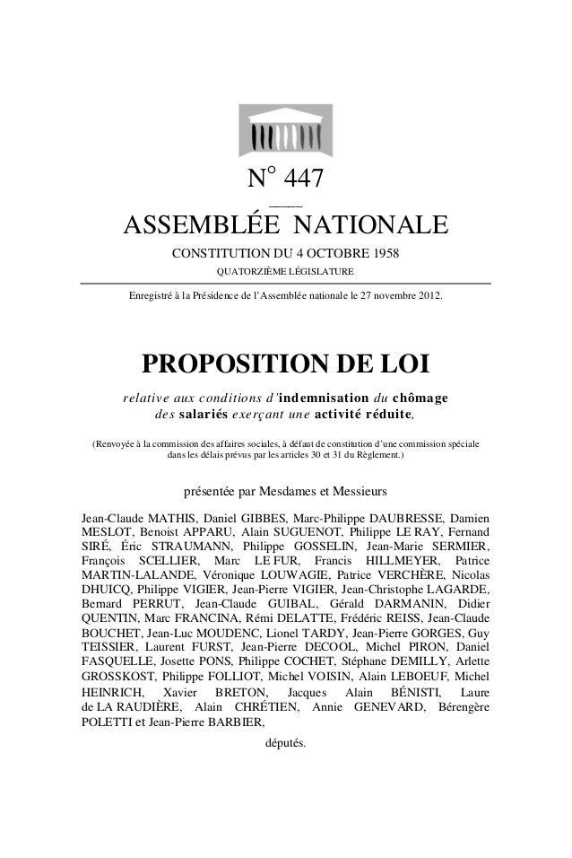 N° 447                                              _____        ASSEMBLÉE NATIONALE                     CONSTITUTION DU 4...