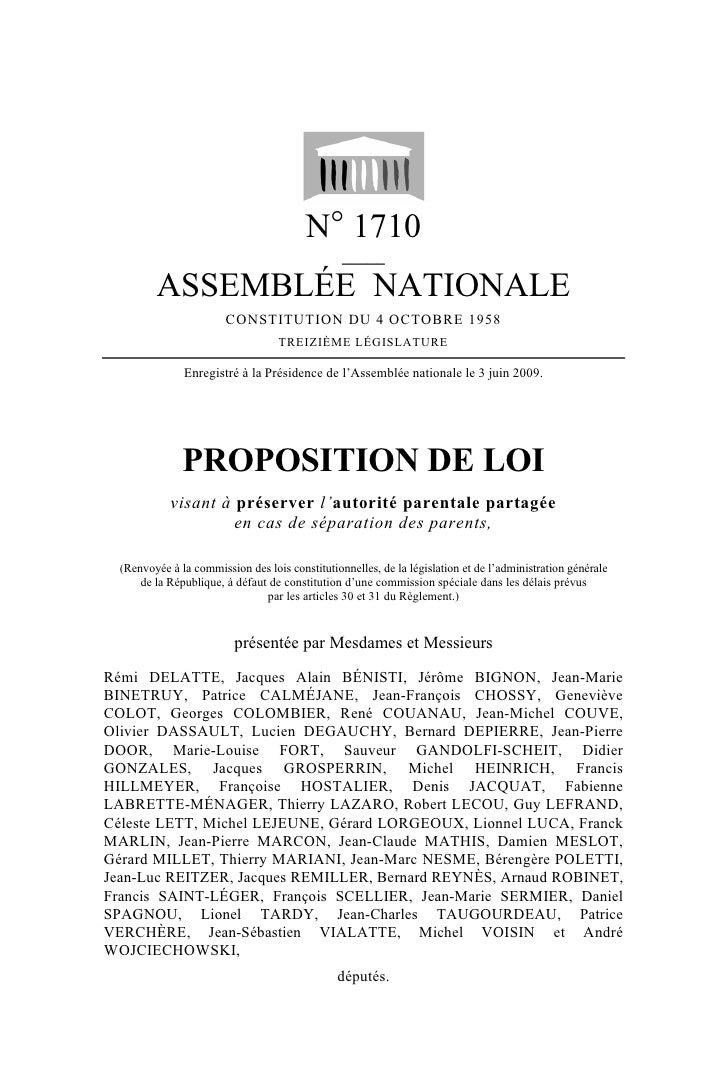 N° 1710                                                  _____           ASSEMBLÉE NATIONALE                         CONST...