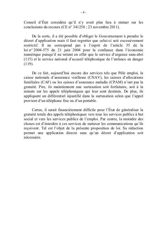 -5-                    PROPOSITION DE LOI                             Article unique    Après le deuxième alinéa de l'arti...