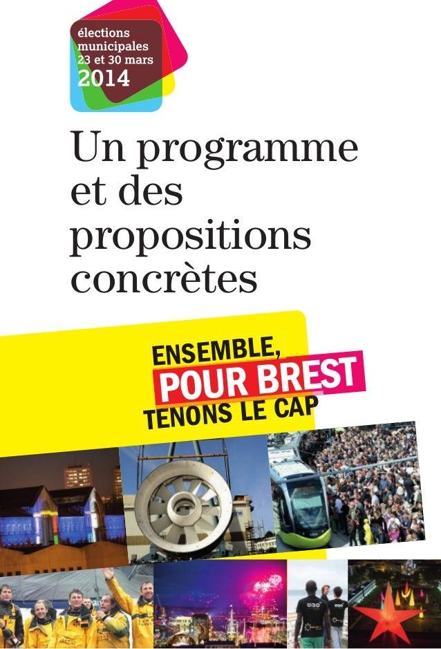 Un programme et des propositions concrètes ENSEMBLE,  UR BCAEST PO LE R P  TENONS