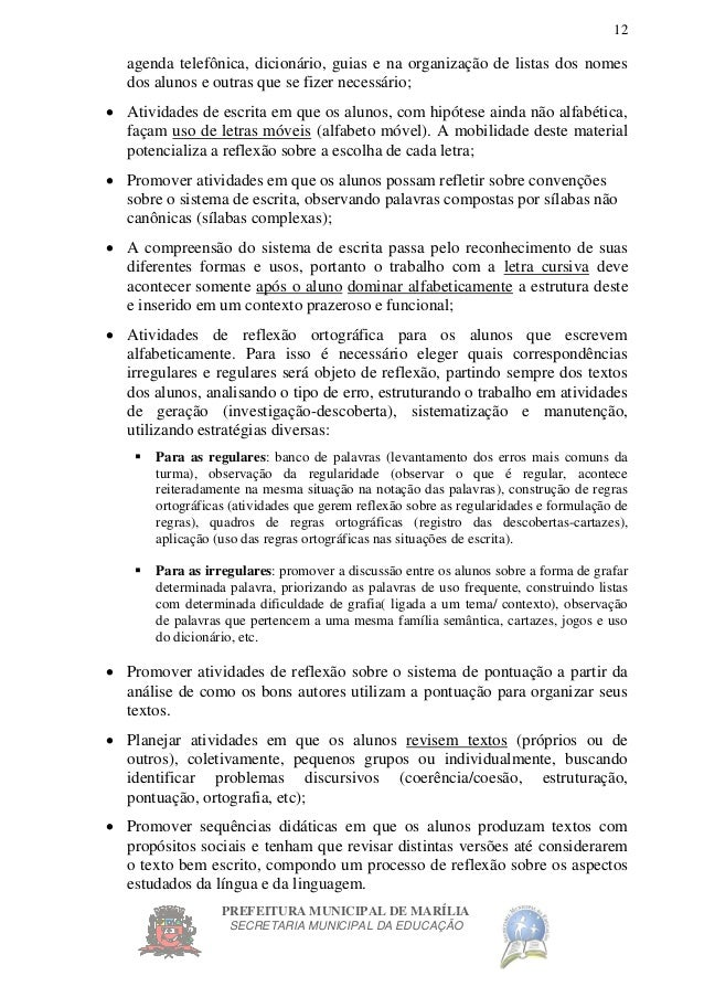 Fabuloso Proposta curricular para o 3º ano do ensino fundamental TQ84