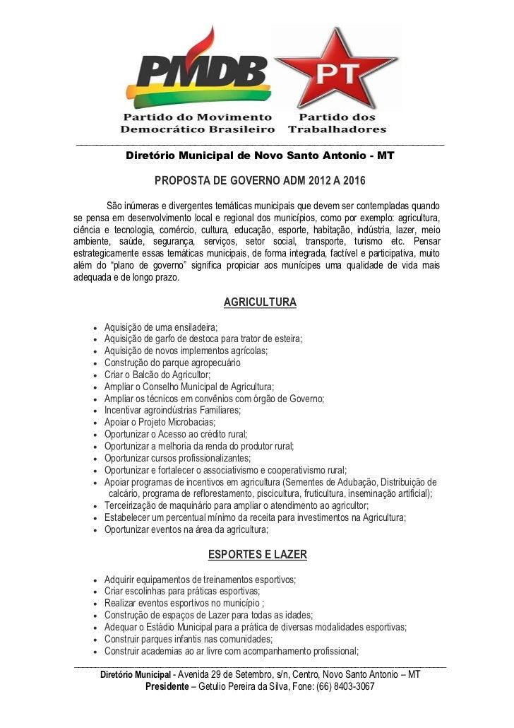 _______________________________________________________________________          Diretório Municipal de Novo Santo Antonio...