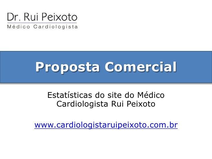 Proposta Comercial<br />Estatísticas do site do Médico Cardiologista Rui Peixoto<br />www.cardiologistaruipeixoto.com.br<b...