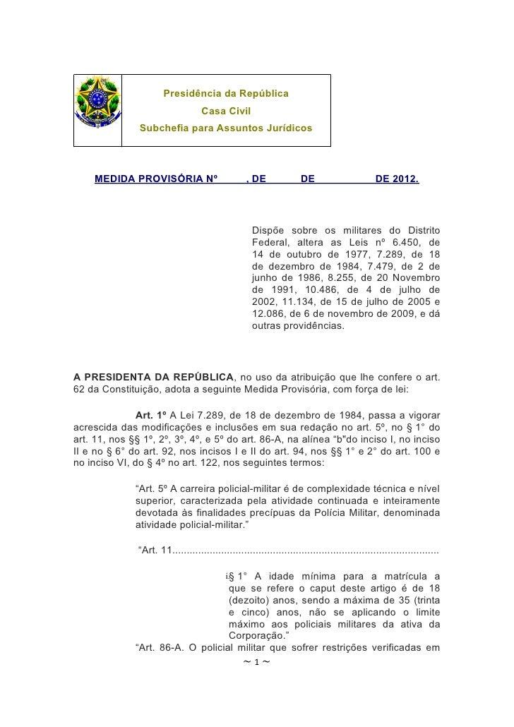 Presidência da República                                    Casa Civil               Subchefia para Assuntos Jurídicos    ...
