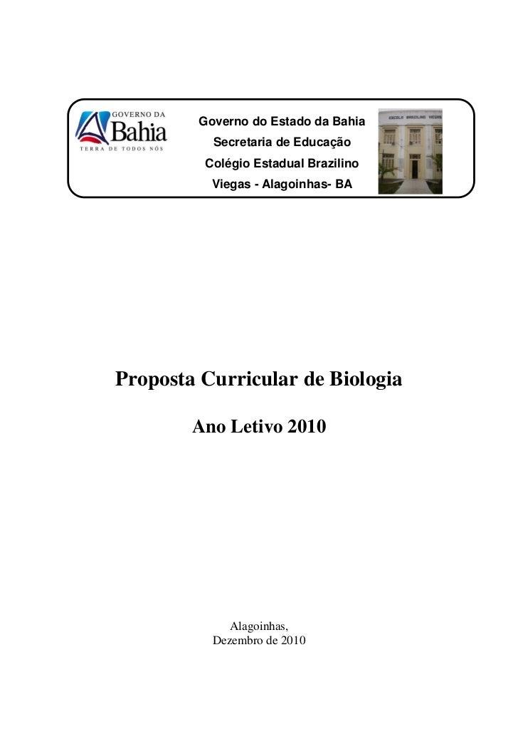Governo do Estado da Bahia           Secretaria de Educação         Colégio Estadual Brazilino           Viegas - Alagoinh...