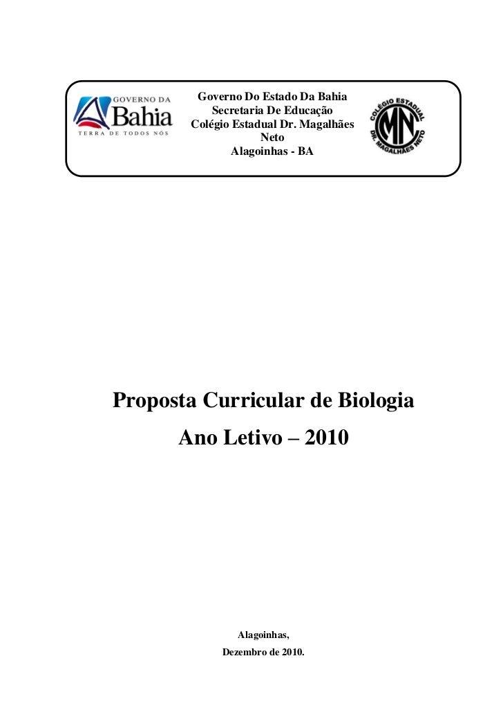 Governo Do Estado Da Bahia            Secretaria De Educação        Colégio Estadual Dr. Magalhães                     Net...