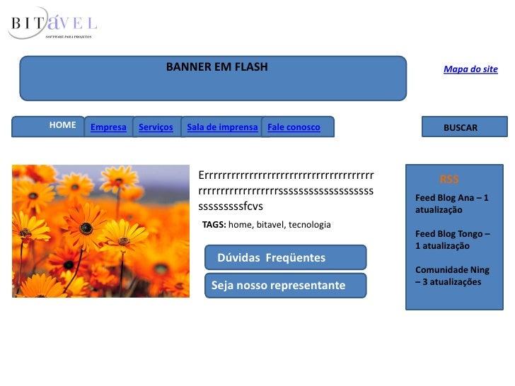 BANNER EM FLASH                                        Mapa do site     HOME   Empresa   Serviços   Sala de imprensa Fale ...