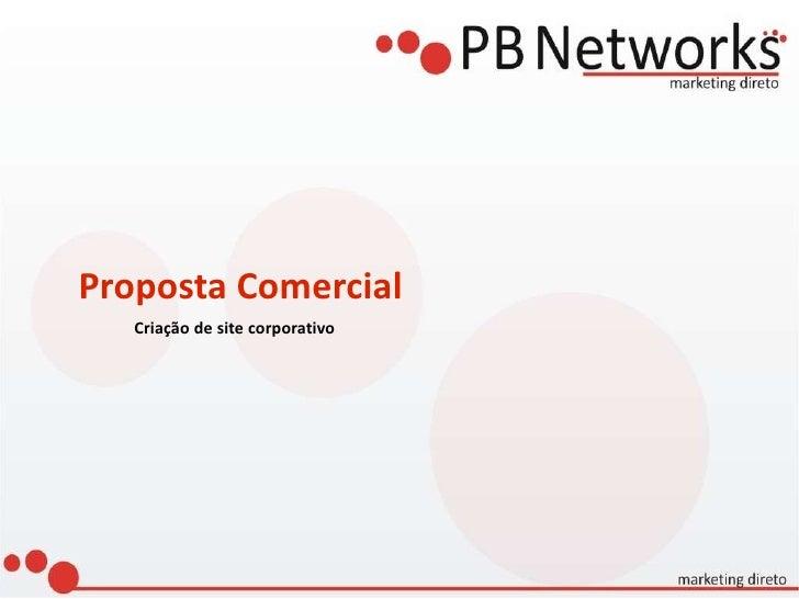 Proposta Comercial Criação de site corporativo