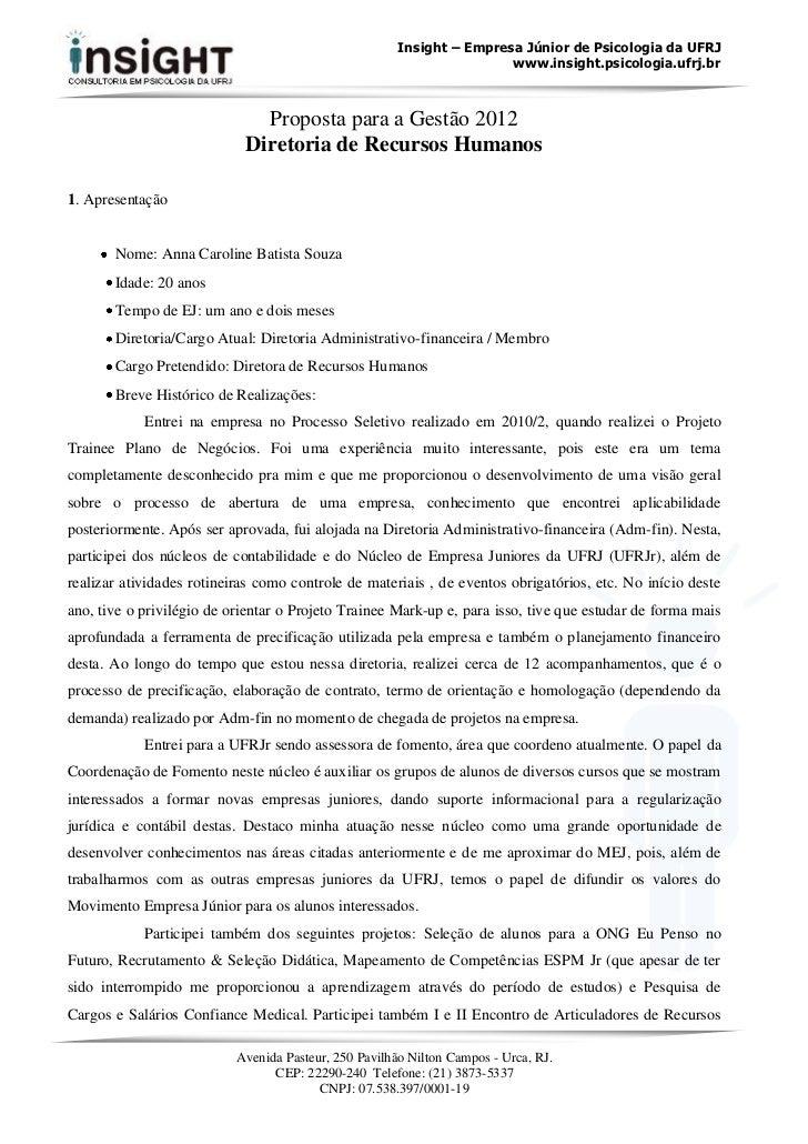 Insight – Empresa Júnior de Psicologia da UFRJ                                                                       www.i...