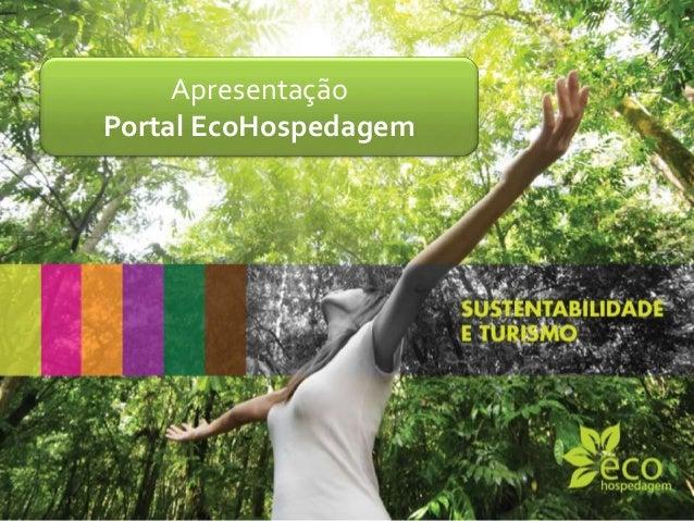 Apresentação Portal EcoHospedagem