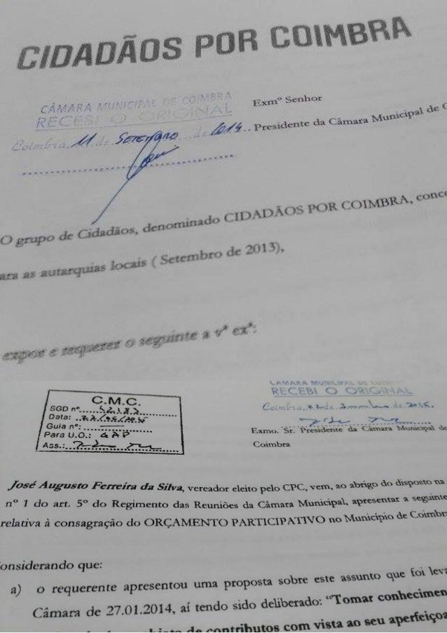 ARQUIVEM-SE? Cópia dos requerimentos e propostas apresentados por José Augusto Ferreira da Silva, vereador eleito pelo mov...