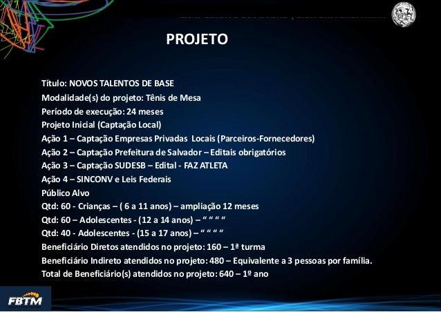 Proposta Gestão Esportiva Compartilhada - AABB-Salvador Slide 2
