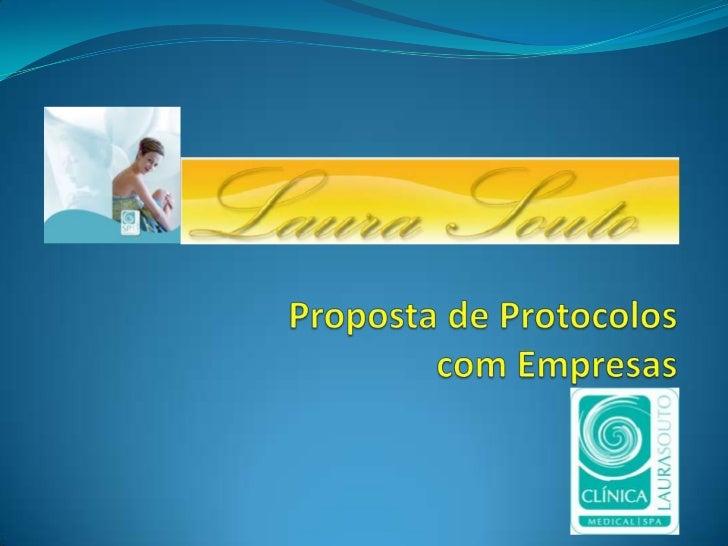 Proposta de Protocolos com Empresas<br />