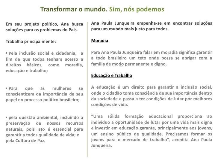 Transformar o mundo. Sim, nós podemos<br />Ana Paula Junqueira empenha-se em encontrar soluções para um mundo mais justo p...