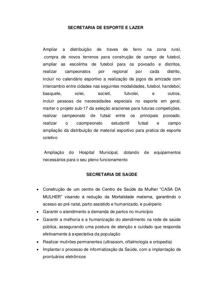 SECRETARIA DE ESPORTE E LAZER    Ampliar     a       distribuição        de    traves    de      ferro      na       zona ...