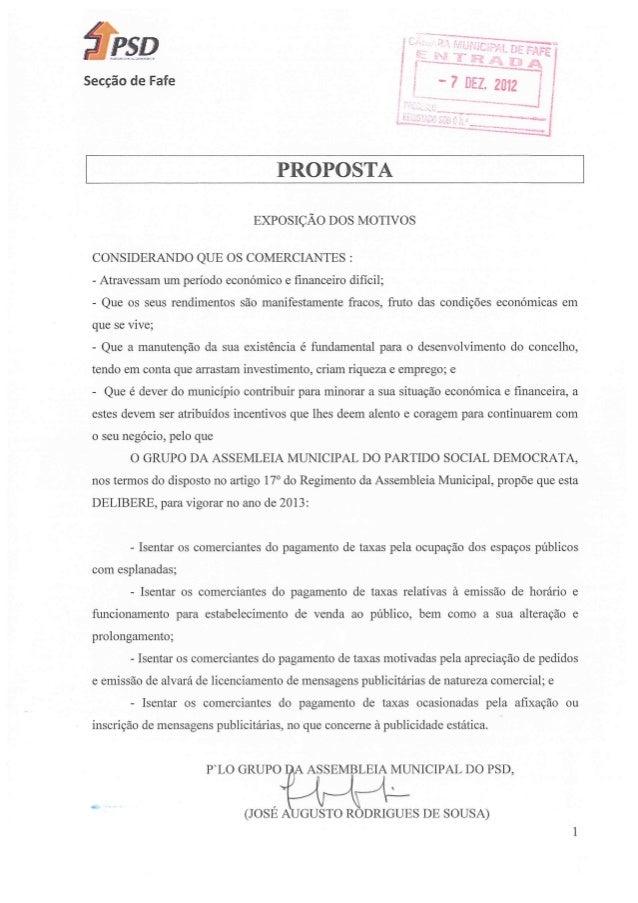 Propostas PSD