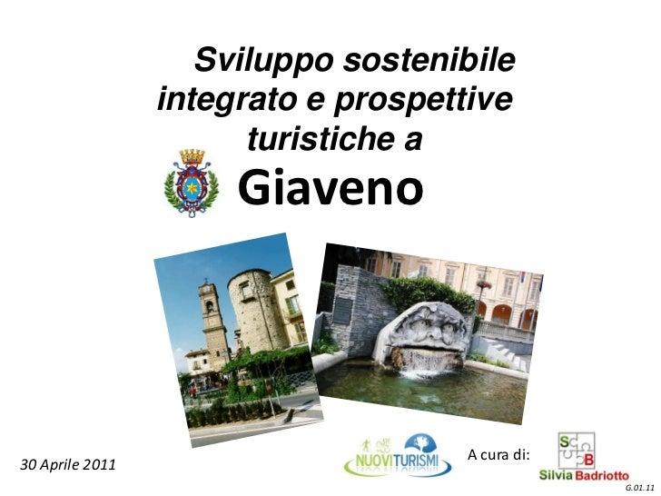 Sviluppo sostenibile                 integrato e prospettive                       turistiche a                      Giave...