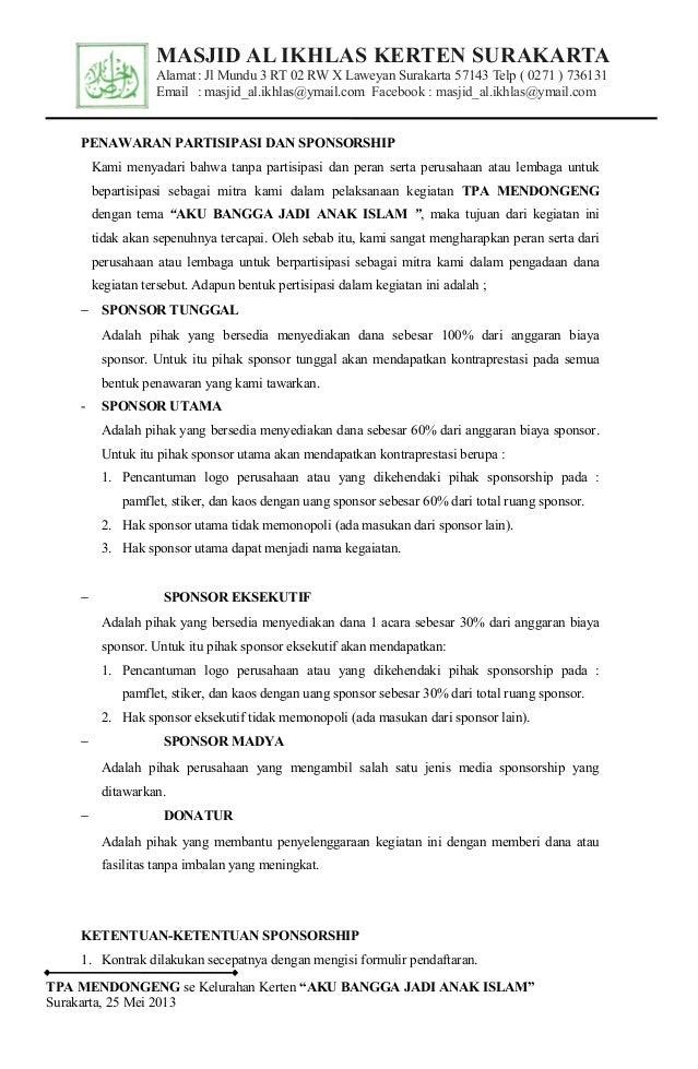Proposal Tpa Mendongeng