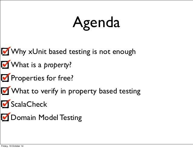Property based Testing - generative data & executable domain rules Slide 2