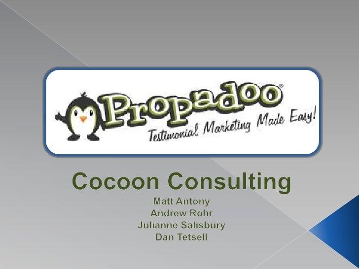 Cocoon Consulting<br />Matt Antony<br />Andrew Rohr<br />Julianne Salisbury<br />Dan Tetsell<br />
