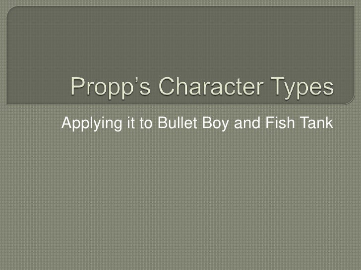 Applying it to Bullet Boy and Fish Tank
