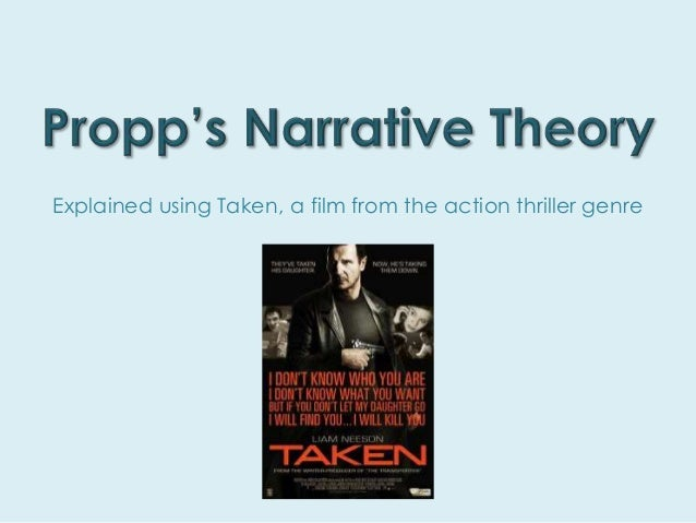 Explained using Taken, a film from the action thriller genre