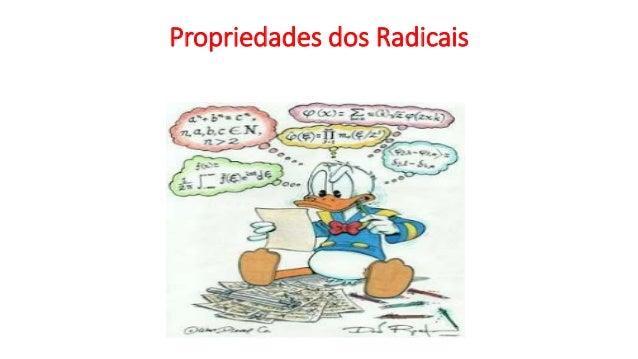 Propriedades dos Radicais