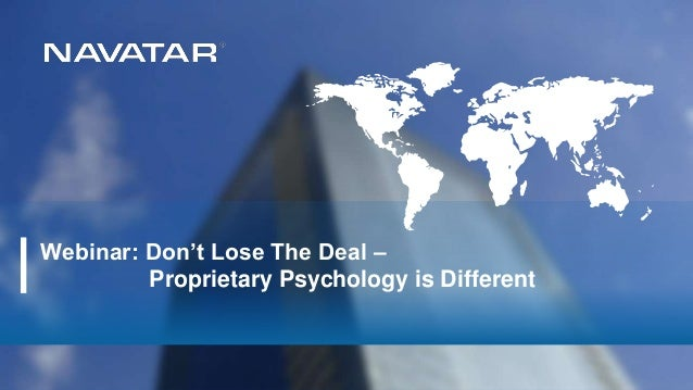 Webinar: Don't Lose The Deal – Proprietary Psychology is Different