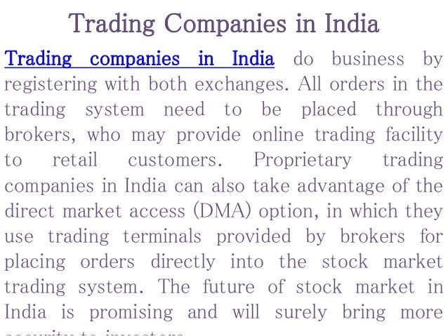 Proprietary options trading firms