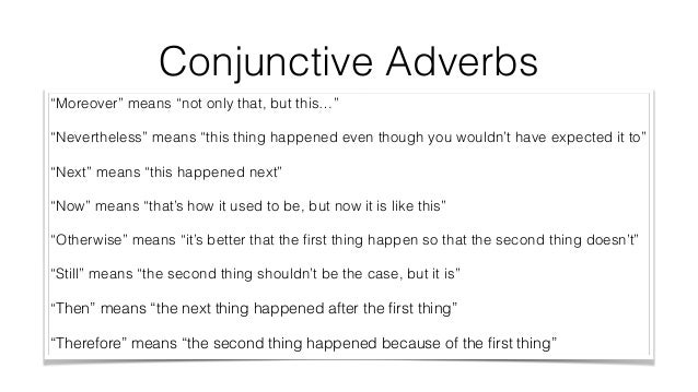 Examples Of Compound Sentences With Conjunctive Adverbs Choice Image