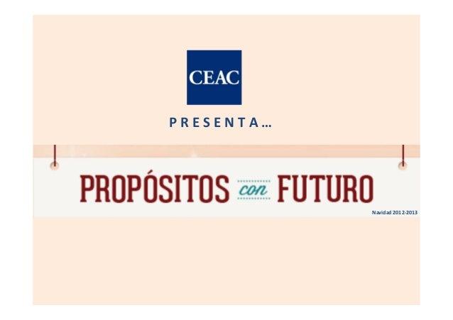 PRESENTA…            Navidad 2012-2013