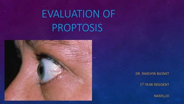 EVALUATION OF PROPTOSIS DR. RAKSHYA BASNET 1ST YEAR RESIDENT NAMS,LEI