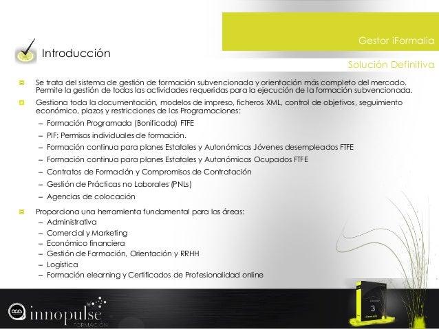 ERP Gestion Formacion para Centros de Formacion y Consultoras Slide 3