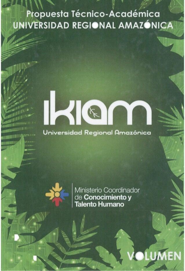 Propuesta2 -  Proyecto de Ley de Creación de la Universidad IKIAM