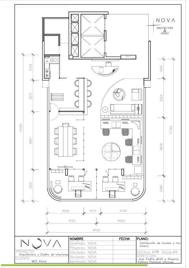 Propuesta de dise o de oficina moderna versi n 4 for Distribucion de oficinas pequenas