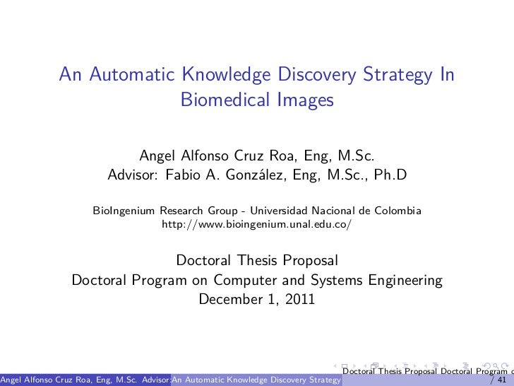 Proposed data mining thesis schedule