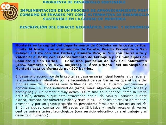 PROPUESTA DE DESARROLLO SOSTENIBLE  IMPLEMENTACION DE UN PROCESO DE APROVECHAMIENTO POST  CONSUMO DE ENVASES PET COMO ALTE...