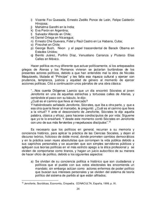 24 i) Vicente Fox Quesada, Ernesto Zedillo Ponce de León, Felipe Calderón Hinojosa; j) Mahatma Gandhi en la India; k) Eva ...