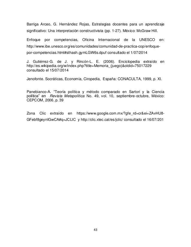 43 Barriga Arceo, G. Hernández Rojas, Estrategias docentes para un aprendizaje significativo: Una interpretación construct...