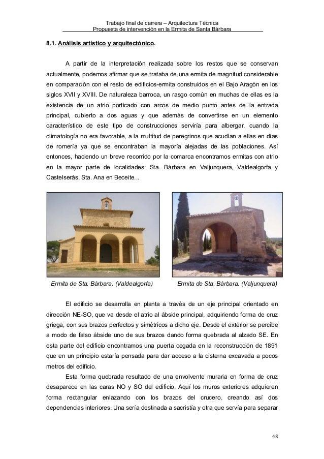 Ermita de santa barbara la fresneda for Arquitectura tecnica a distancia